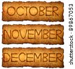 Month on old paper background for 2013 Calendar - stock photo