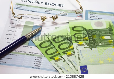 Monthly budget 2 - stock photo