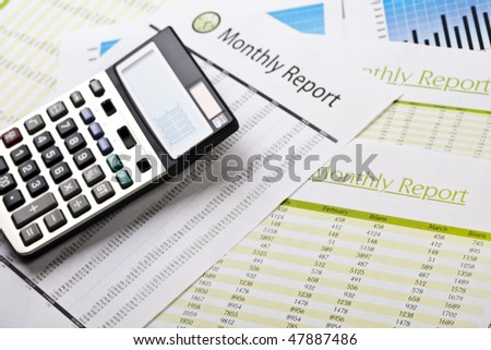 Monthly Report - stock photo