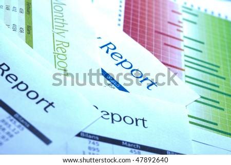 Monthly Report - stock photo