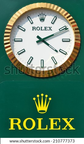 Montreal Canada Aug 11 Rolex Sign Stock Photo Edit Now 210777373