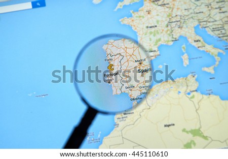 Google Europe Stock Images RoyaltyFree Images Vectors - Portugal map app
