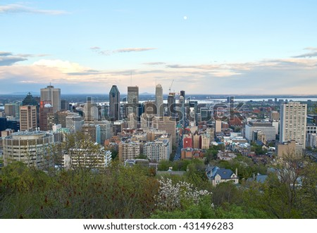 MONTREAL, CANADA - MAY 27, 2016 : Scenic view of spring downtime Montreal.