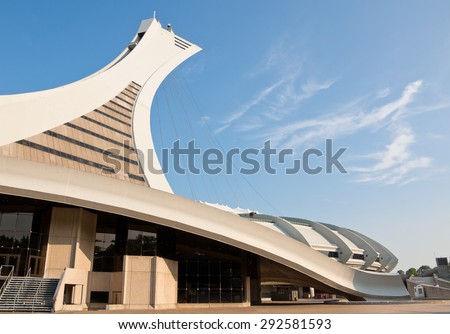 MONTREAL, CANADA - SEPTEMBER 2, 2011: The beautiful Stade Olympique in Montreal, Quebec, Canada