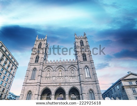 Montreal cathedral. - stock photo