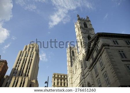 Montreal downtown buildings - stock photo