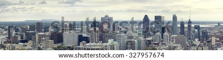 Montreal downtown skyline - stock photo
