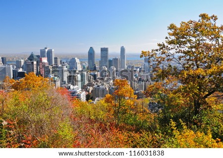 Montreal during foliage season, Quebec, Canada - stock photo
