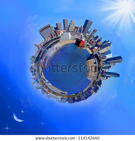 Montreal Panorama - stock photo