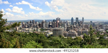 Montreal panorama view - stock photo