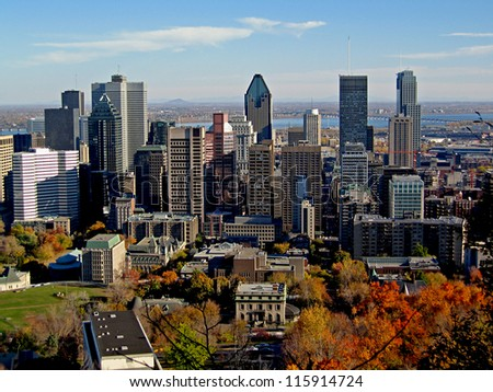 Montreal Skyline in Autumn
