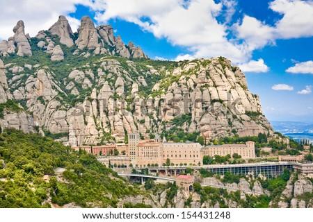 Montserrat Monastery, Catalonia, Spain. - stock photo
