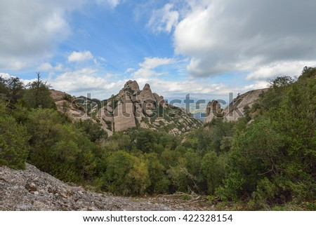 Montserrat mountain, Spain - stock photo
