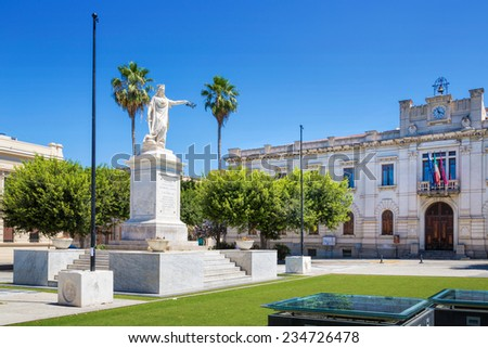 Monument at the Corso Garibaldi, Reggio Calabria, Italy - stock photo