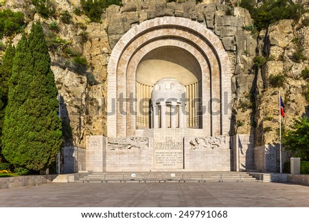 Monument Aux Morts in Nice, France - stock photo