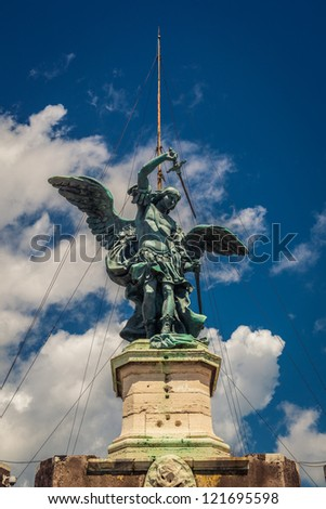 Monument of Angel in Rome, Italy - stock photo