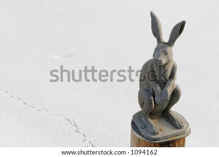 Monument to a hare in Saint Petersburg