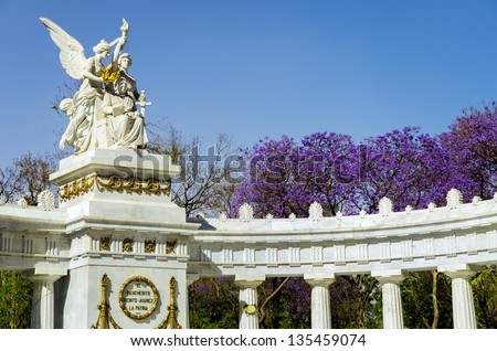 Monument to Benito Juarez in Mexico City - stock photo