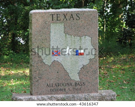 Monument to Texas Soldiers at Altoona Pass Battlefield
