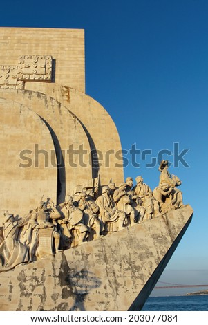 Monument to the Discoveries , historical memorial in  Lisbon  - stock photo