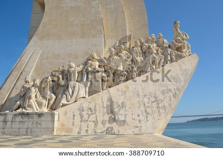 Monument to the Discoveries  - west side Lisbon Portugal