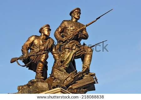 Monument to the Heroes of the First world war. Kaliningrad (formerly Koenigsberg), Russia - stock photo