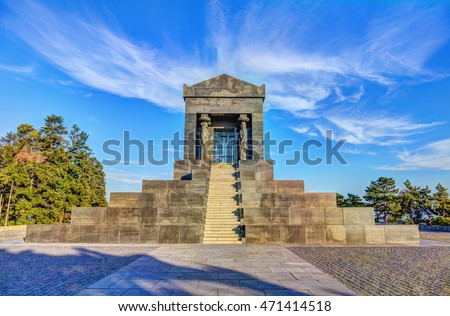 Monument to the Unknown Soldier from World War I on Avala, Belgrade, Serbia.