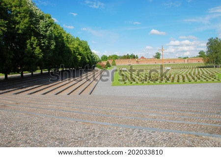 Monument to victims of the First World War Terezin Czech Republic - stock photo