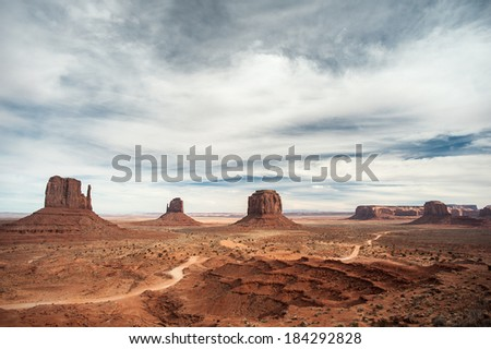 Monument valley. Arizona/Utah. USA. January 2014 - stock photo