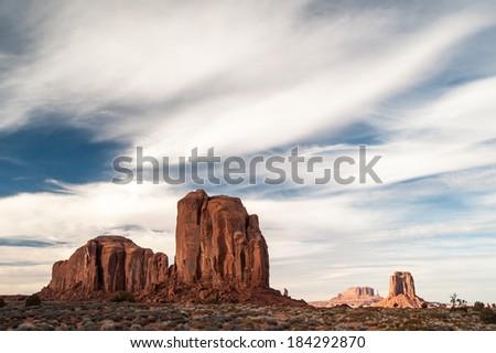 Monument valley. Arizona/Utah. USA. January 2014 - stock photo