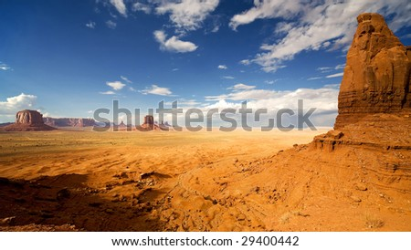 Monument Valley Artists Point - stock photo