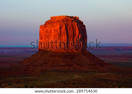 Monument Valley at sunset - stock photo