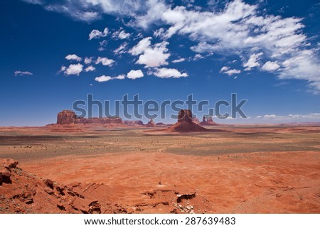 Monument valley erosion formations - USA