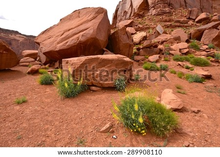 Monument Valley in Arizona, USA - stock photo