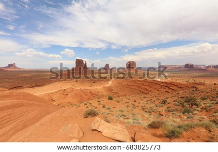 Monument Valley in Arizona. USA