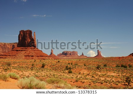Monument valley in south west USA - stock photo