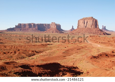 Monument Valley in the Distance - stock photo