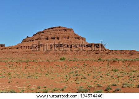 Monument valley in the early evening of April 2014 - stock photo