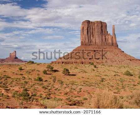 Monument valley in the four corners area of Utah