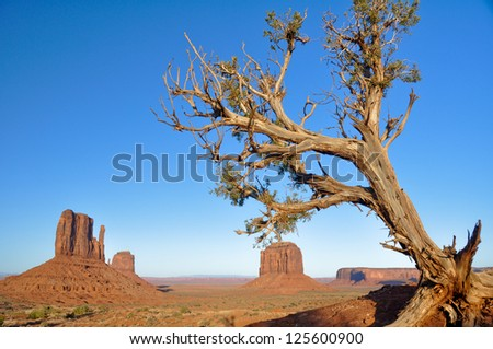 Monument Valley in Utah (USA) - stock photo
