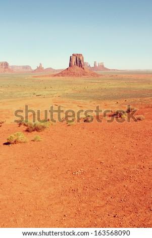 Monument Valley Navajo National Park, Utah, USA. - stock photo