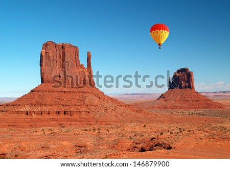 Monument Valley Navajo Tribal Park in Utah - stock photo