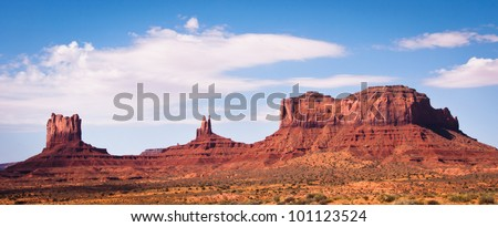 Monument Valley panorama - stock photo