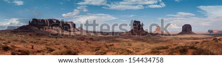 Monument Valley Panorama USA, Arizona beautiful landscape - stock photo