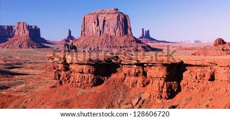 Monument Valley panorama , Utah, USA - stock photo