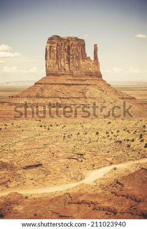 Monument Valley with special photographic processing, USA  - stock photo