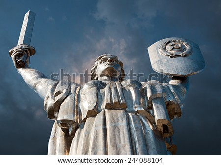 """Monumental statue of the """"Mother Motherland"""" devoted the Great Patriotic War - stock photo"""