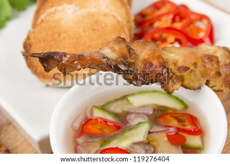 ... satay moo satay pork satay grilled and sour sauce moo satay moo satay