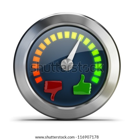 Mood meter. 3d image. Isolated white background. - stock photo