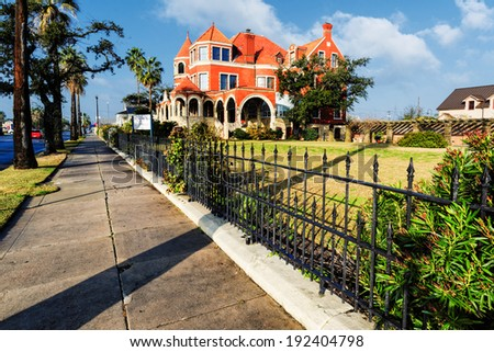 Moody Mansion - Galveston Texas  - stock photo